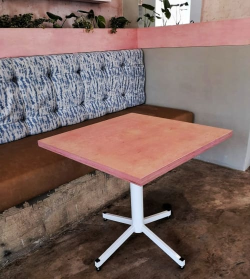 Tables by Stripped seen at 9 7th St, Johannesburg - Flamingo Tables