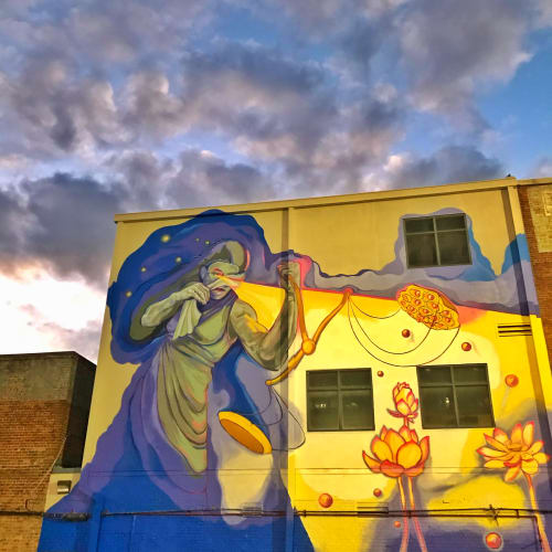 Murals by Ello Artist seen at MAPP, LLC, Baton Rouge - Planting Seeds for Economic Equality Mural