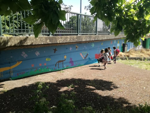 Murals by Amy Hutchings seen at Cumberland Basin, Bristol - We Love Where we Live