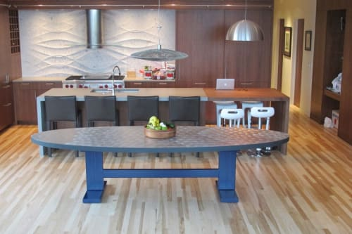Tables by Willie Willette Works seen at Private Residence, Minneapolis - Zinc Dining Table - FOR SALE