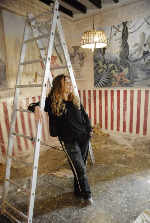 Murals by Sandra Renzi seen at Private Residence - Sa Ximbomba restaurant