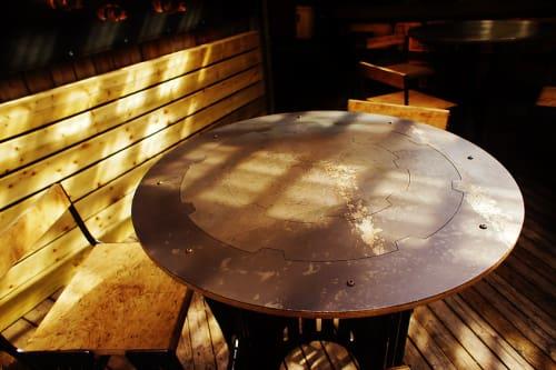 Tables by PEKOTA seen at Estrella Taqueria, San Francisco - Custom Titus Estrella Coffee Table