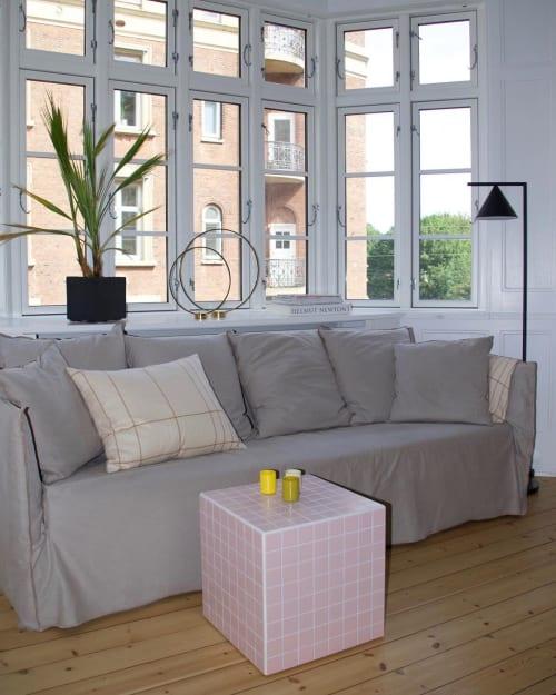 Tables by IKON KØBENHAVN seen at Private Residence, København - Cube - Matte Light Pink
