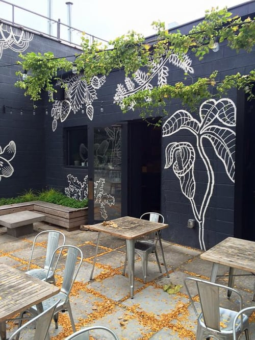 Murals by Heidi Barlow seen at Selden Standard, Detroit - Selden Standard