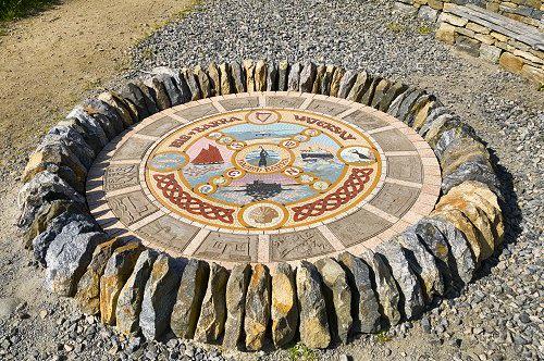 Public Mosaics by Alan Potter seen at Castlebay, Castlebay - Herring Walk