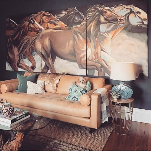 Paintings by Matthew Hance seen at Private Residence, Baltimore - Horse Painting