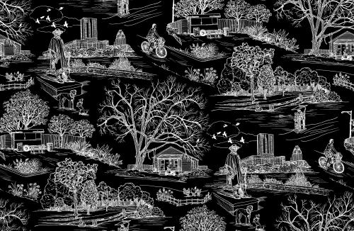 Wallpaper by Hollis Hammonds seen at LENOIR, Austin - Austin Toile