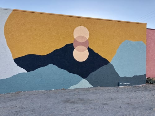 Murals by Ana DiGiallonardo seen at Yucca Valley, Yucca Valley - Solar Return Mural in Old Town Yucca Valley