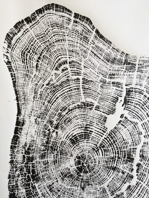 Murals by Erik Linton seen at Seattle, Seattle - Tree ring print from Grand Canyon