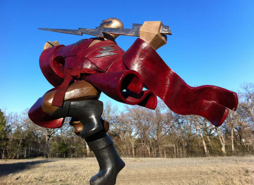 Sculptures by Nina Winters seen at Private Residence - The Galactic Samurai/Confrontation of Evil