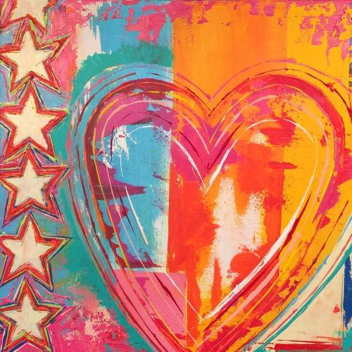 Paintings by Ben Bonart seen at Ben Bonart Art & Design LLC, Nyack - HEART