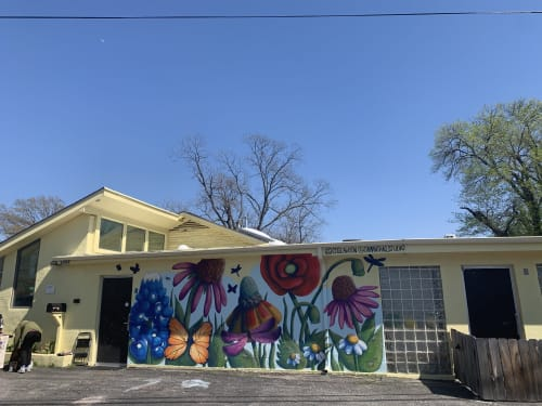 Murals by Samantha Jacobson seen at 2205 Ohlen Rd, Austin - Little Garden