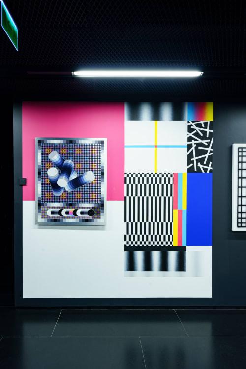 Paintings by Lost.Optics seen at MARe/Muzeul de Artă Recentă, București - Fluctuation mood