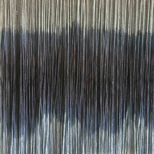 "Wall Hangings by Lauren Williams seen at Private Residence, New York - Small Tapestry ""Sound Waves"" Gray Collection"