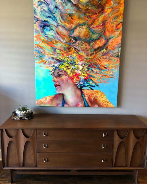 Paintings by Jennifer Hannaford Fine Art seen at Private Residence, New York - Into the Great Wide Open