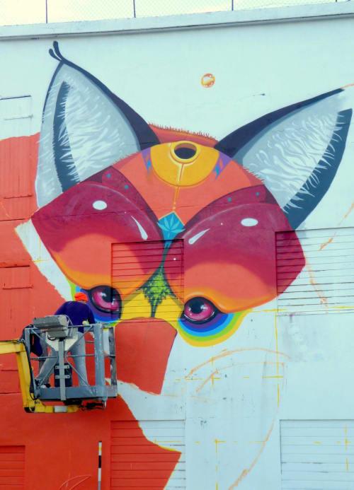 Murals by M.u.M seen at Lofoten - BALLSTADS FOX  2018