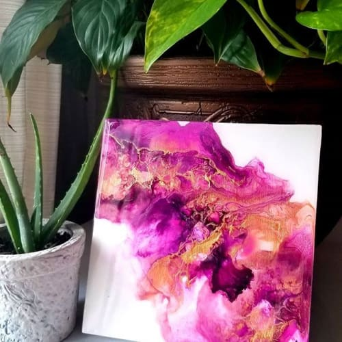 Paintings by PMG_Studio seen at Private Residence - Gatineau, QC, Gatineau - Pink Swag