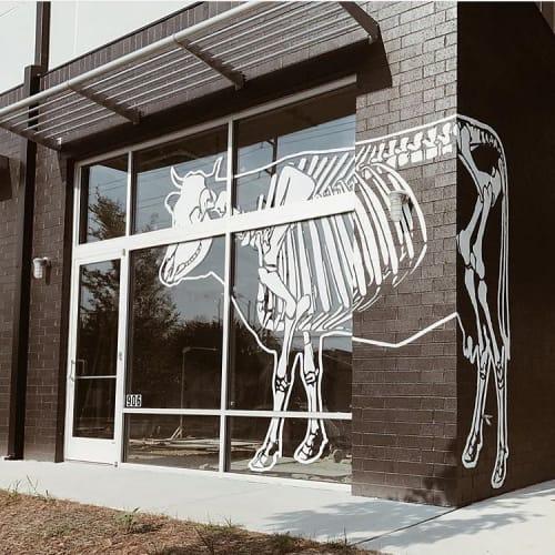 Murals by I Saw The Sign seen at Bare Bones Butcher, Nashville - Bare Bones Mural