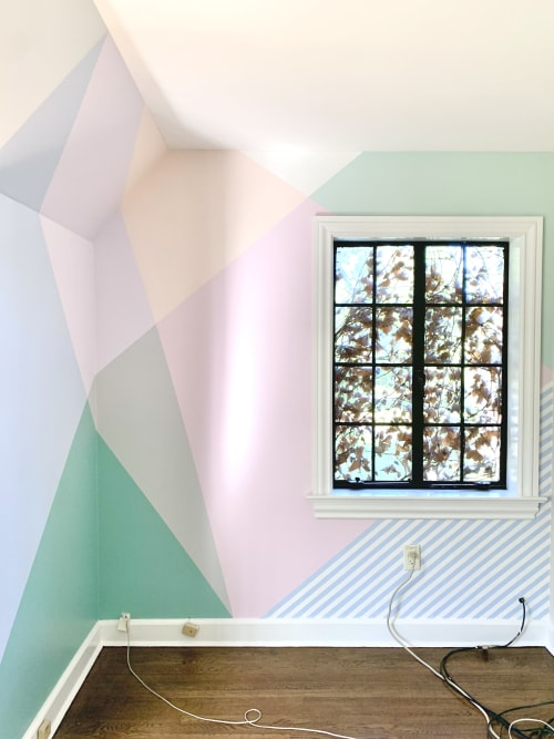 Murals by Shapes For The People - Light and breezy home office