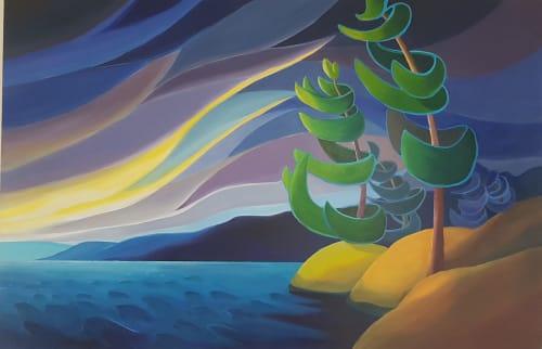Paintings by Bärbel Smith seen at Durham Condominium Corporation 93, Pickering - Last Light - Painting