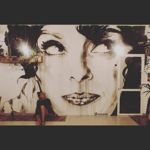Murals by Stefania Gallina - MAPU Lab seen at Weligama, Weligama - Sofia Loren - Commissioned mural