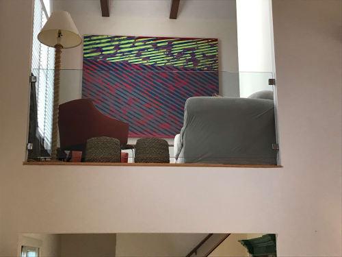 Paintings by Palma Blank seen at Private Residence, Bridgehampton - RAD racer