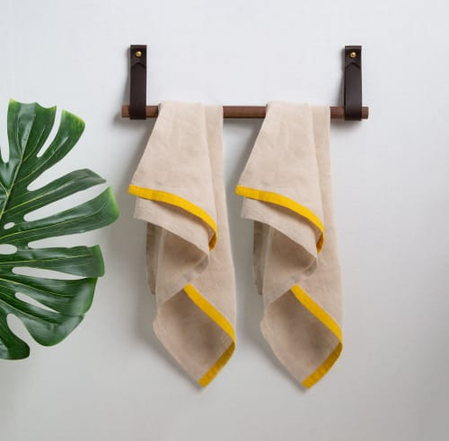 Hardware by Keyaiira   leather + fiber seen at Private Residence, San Francisco - Hanging Dowel Kit [Flag End]
