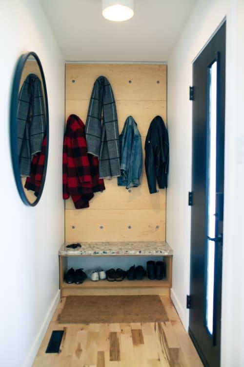 Interior Design by Ryspot Design seen at Private Residence, Edmonton - Terrazzo Concrete Bathroom Hard Surfaces
