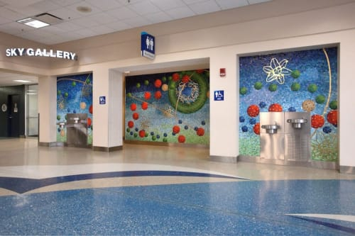 Murals by Amy Cheng seen at Jacksonville International Airport, Jacksonville - Celestial Playground