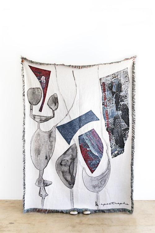 "Linens & Bedding by K'era Morgan seen at Creator's Studio, Los Angeles - ""Calma"" Throw Blanket"