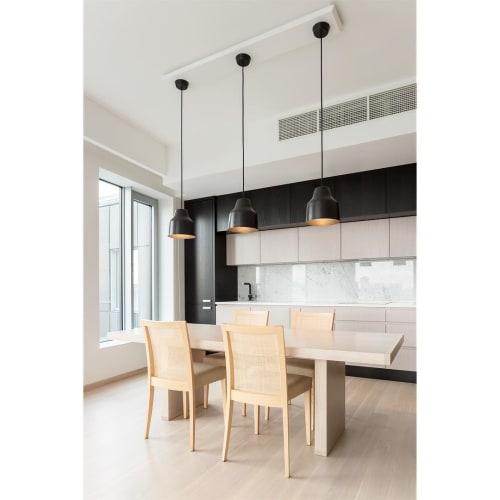 Pendants by Saarepera & Mae seen at Private Residence, Tallinn - Pendant Light Black