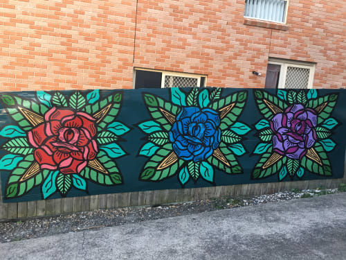 Murals by Storm Soul Artworks seen at Private Residence, Sydney - Residential Fence Mural