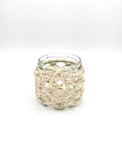 Tableware by HoeBow Designs (Chloe Eleanor) seen at Private Residence, Godstone - Handmade Macrame Candle Holder (size small)