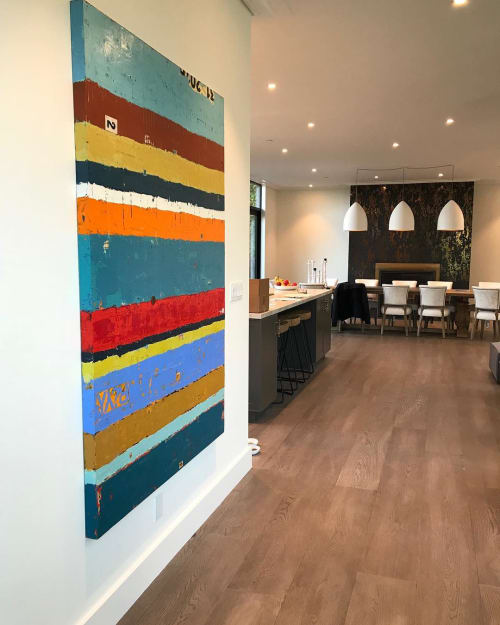 Paintings by Bibby Art seen at Private Residence, Mill Valley - Song of my Soul