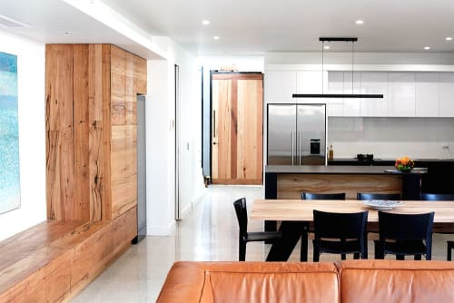 Furniture by Bombora Custom Furniture seen at Private Residence, South Melbourne - Large Scale Timber Joinery Project