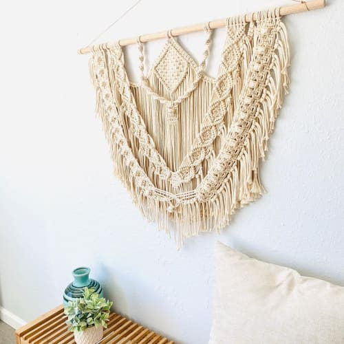 Macrame Wall Hanging by Love & Fiber seen at Private Residence, San Diego - Fringe Macrame