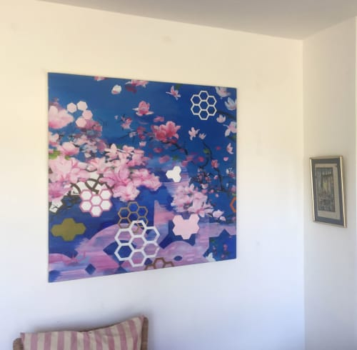 Paintings by Susanna Lisle seen at Private Residence, Maiden Bradley - The Magnolia Tree