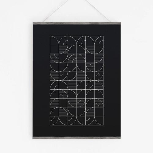 Art & Wall Decor by Michael Grace & Co seen at Creator's Studio, Seattle - Geometric Night Harvest Art Print