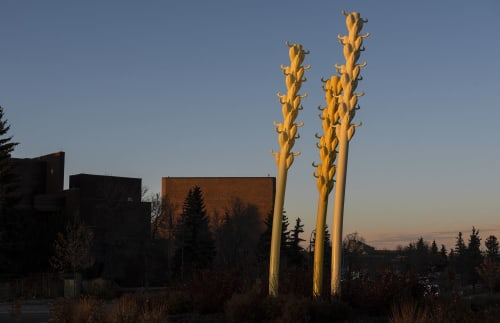 Public Sculptures by COOKE-SASSEVILLE seen at Saint Anne Street, St. Albert - MIGRATIONS