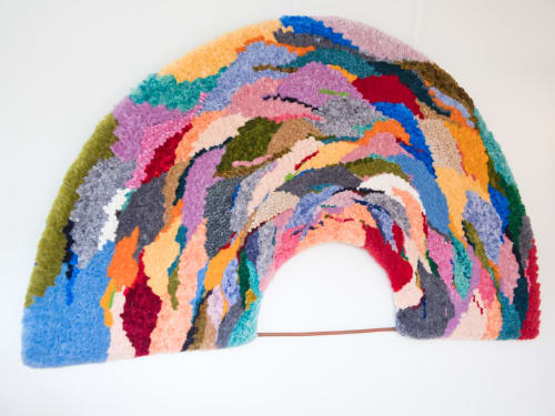 Wall Hangings by Yunan Ma Fiber Art seen at Private Residence, San Francisco - Freedom 2, 2020