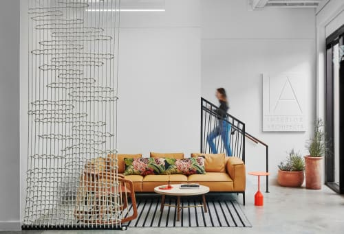 Wall Treatments by FIBROUS seen at IA   Interior Architects, Austin - Woven Rope Screen