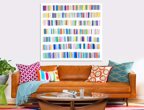 Paintings by Linnea Heide contemporary fine art seen at Asheville, Asheville - 'ANOTHER BiBLiOPHiLE' original abstract painting by Linnea Heide