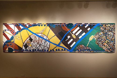 Work by Carole d'Inverno seen at Massillon Museum, Massillon - Welcome to the Games!