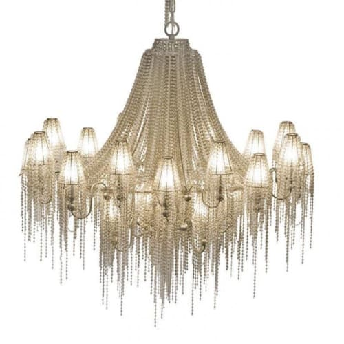 Chandeliers by Alan Mizrahi Lighting Design seen at Private Residence, Dallas - AM2704 BURLESQUE