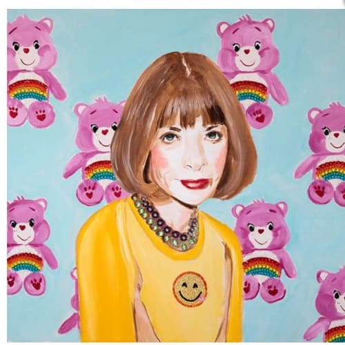Paintings by Ashley Longshore seen at Ashley Longshore Studio Gallery, New Orleans - Anna Wintour Portrait