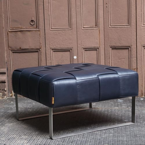 Benches & Ottomans by Lucy Tupu Studio seen at New York County Supreme Court, New York - Flax Ottoman