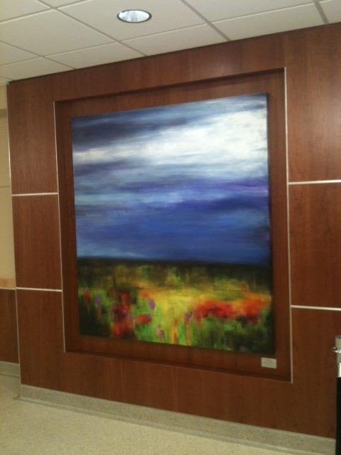 Paintings by Julie Hansen seen at Boone Hospital Center, Columbia - Blue Sky, Wildflower Dance