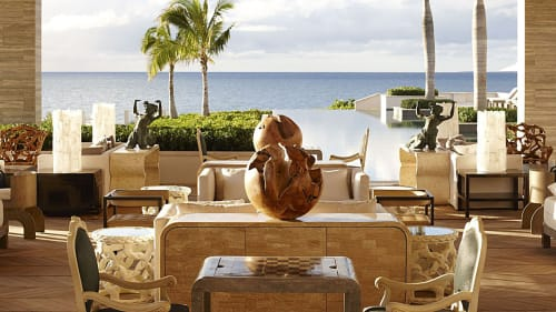 Sculptures by Ron Dier Design seen at Four Seasons Resort and Residences Anguilla, West End - Mango Root Spheres
