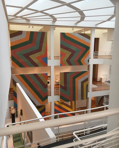 "Murals by Deanna Sirlin seen at High Museum of Art, Atlanta - ""Lewitt"" mural"
