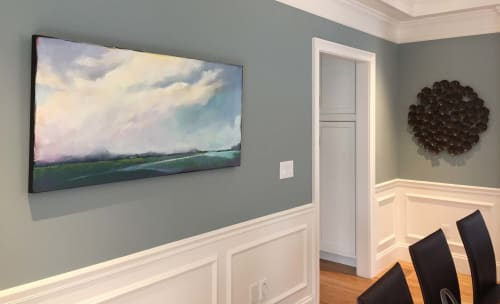 Paintings by Carrie Megan seen at Private Residence, Lexington - Parsons Beach Afternoon